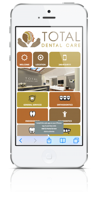 Total Dental Care App Phone Screen