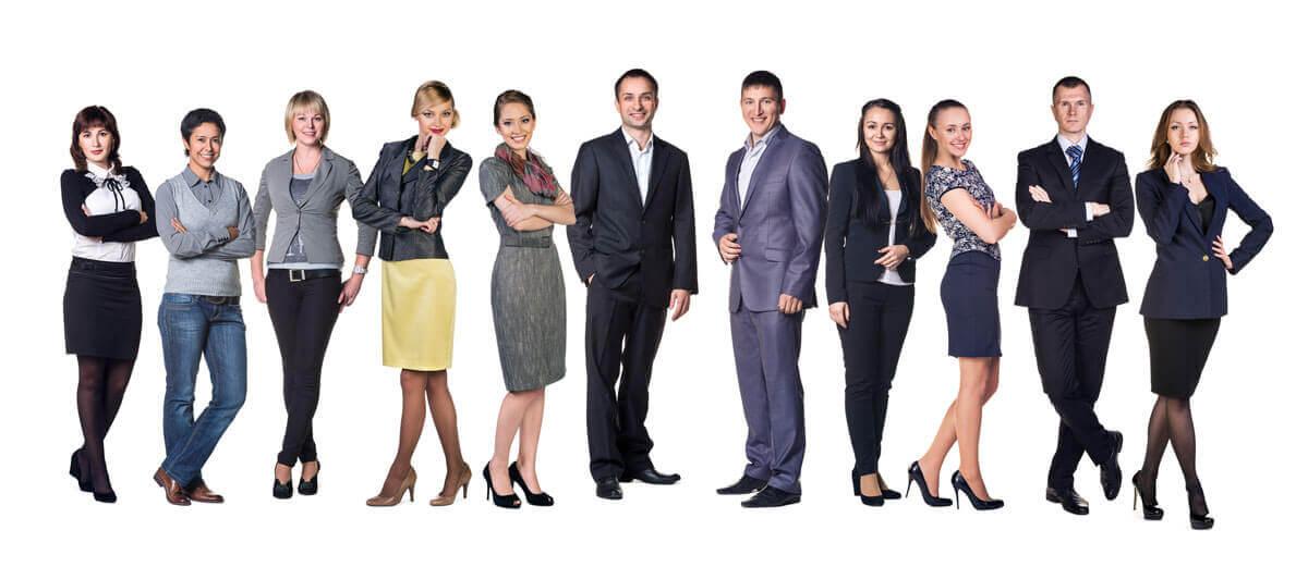 Team of Professionals Smiling